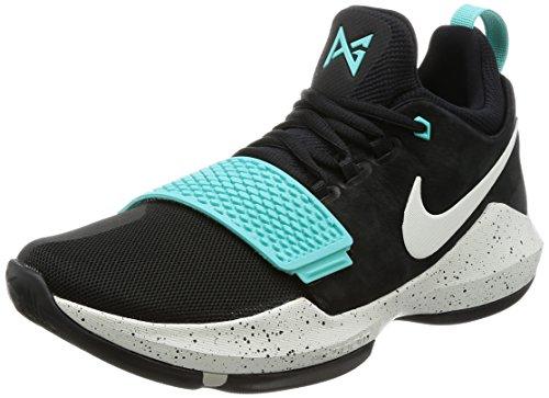 Nike Mens Pg 1 Ep, Noir / Os Clair / Lumière Aqua Noir / Os Clair / Lumière Aqua