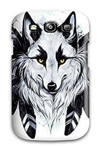 Sophie Dweck's Shop Snap On Case Cover Skin For Galaxy S3(wolf Drawing)
