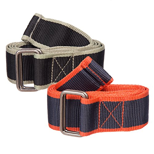 Belted Canvas Belt (Sunny Belt Women's Adjustable Canvas Web Belt with Double-Ring Metal Buckle)