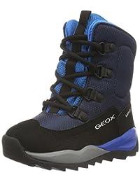 Geox J Orizont B Abx E Text+Dbk Avio/Lt Blue Junior Ankle Boots (Kids Shoes) Size 32