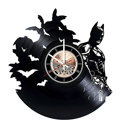 Green Arrow Injustice Costume (Batman DC Comics Handmade Vinyl Record Wall Clock - Home or Bedroom wall decor - Gift ideas for friends, teens - Unique Art Design)