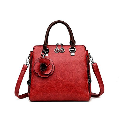 pour rouge Large Sac à femme en cuir Bag main bandoulière Catwalk Shoulder Collection à Sac WENMW Vin a1q8fnE