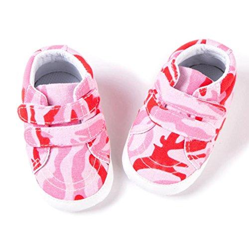... Clode® Neugeborene Kleinkind Baby Säuglingsmädchen Jungen Tarnungs  weiche rutschfeste Segeltuch Schuhe Rot ...