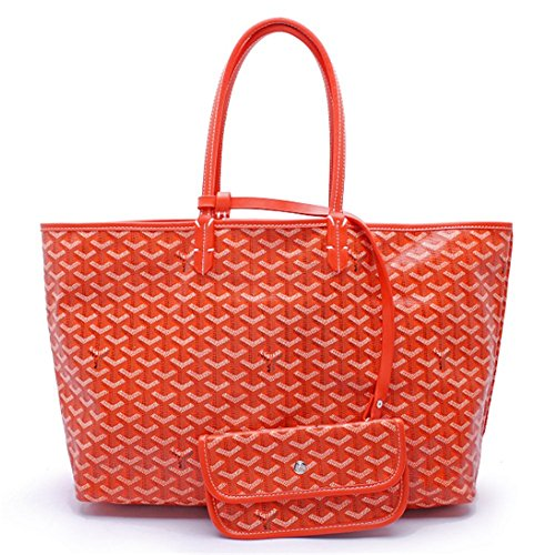 Agote Women Fashion Shipping Shoulder Tote Bag Set (ORANGE.) by Agote (Image #3)