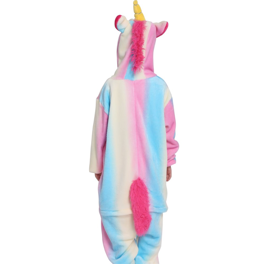 Pijama Unicornio Pijama Animal Invierno Entero de Franela Unisex Pijama Mono Animal Disfraz Navidad para Niños Niñas (XL(Longitud 115cm para 126-137cm), ...