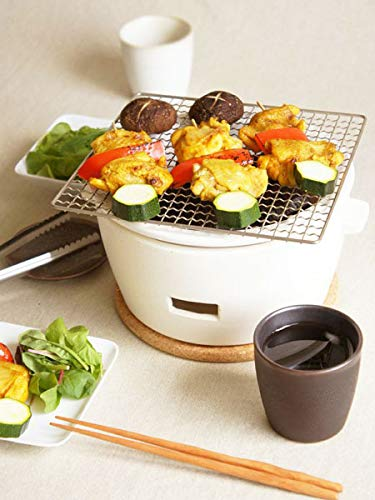 Charcoal grill White L