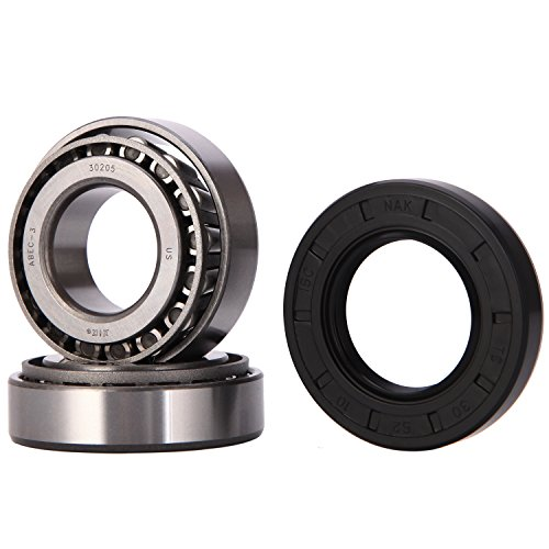 (XiKe 1 Set Fits for 25mm Axles Trailer Wheel Hub Bearings Kit, 30205 Bearings and Seal TC 30x52x10mm, Rotary Quiet High Speed and Durable for Tapered Roller)