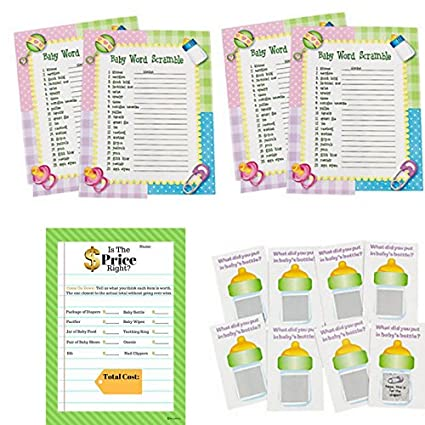 Amazon Baby Shower Games For 24 Guests Baby Shower Word
