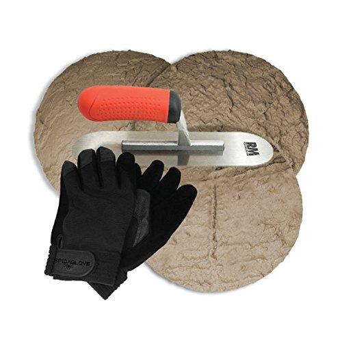 Concrete Stepping Stone Rock Molds Kit | SpidaStamp California Stone Kit | DIY Pathmate Kit | Walk Maker Texture | Paver Molds | RockMolds.
