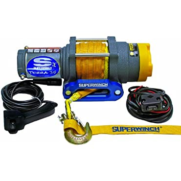Superwinch Terra 35 Synthetic Rope Winch with Remote, 3500lbs (1135230)