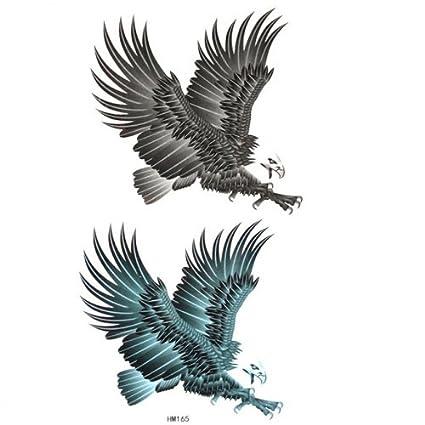 Fake al color y tatuajes animales águila en vuelo: Amazon.es: Belleza