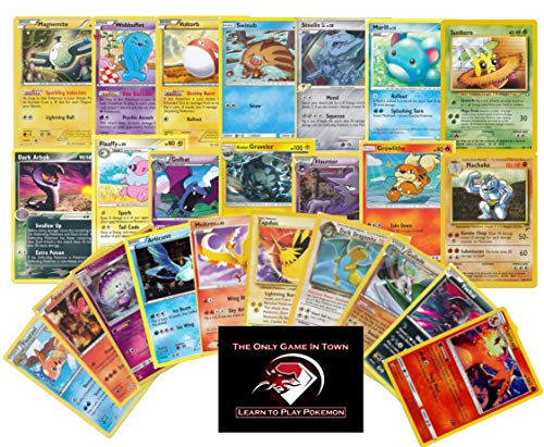 100 Pokemon Cards Plus 10 Rare Pokemon Cards and Learn to Play Pokemon Instructions