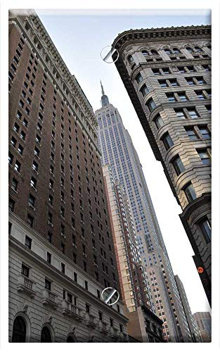 Single-Gang Blank Wall Plate Cover - New York City Bulding View Aerial Manhattan 1 ()