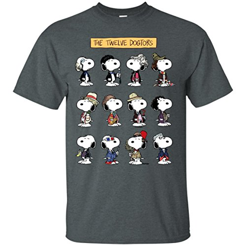 The Twelve Dogtors T-Shirt T-Shirts Tshirt (Linus And Sally Halloween)