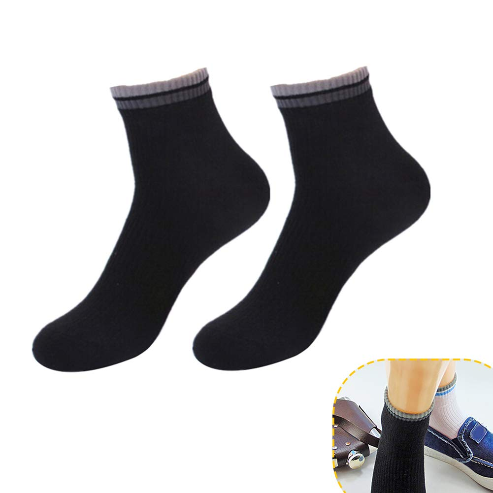 Summer Casual Men Cotton Breathable Absorbent Stripe Edge Sports Short Socks bjlongyi