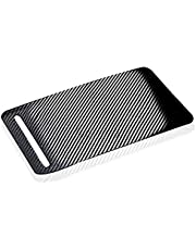 TOOGOO Car Armrest Box Control Panel Decoration Cover Center Console Carbon Fiber Stickers Compatible Model S Model X