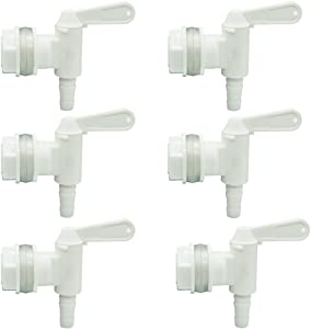 PERA 6 PACK Bottling Bucket Plastic Spigot, Replacement Spigot for Beer or Soda Homebrewing