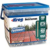 Kreg 458156  protec-Kote Boîte de 700 Vis à tête cylindrique/pas gros pour trous borgnes