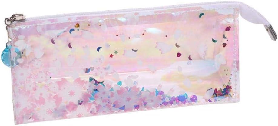 AOLVO - Estuche holográfico, Estuche metálico con Cremallera holográfica Transparente, Resistente al Agua, Suministros Escolares, artículos de papelería: Amazon.es: Hogar