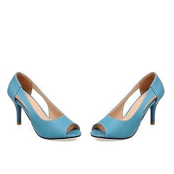 cd903efc607d23 VIVIOO Escarpins Femme Morazora 2018 Nouvelle Arrivée Femmes Pompes Peep  Toe Chaussures De Mode Élégante Solide
