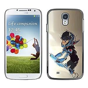 LECELL--Funda protectora / Cubierta / Piel For Samsung Galaxy S4 I9500 -- Boy Space Suit Ship Universe Cosmos Art --