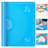 "Baking Mat, McoMce 19.7"" x 15.7"" Pastry Mat for Pastry Rolling with Measurements Silicone Baking Mat, Non-Stick Pastry Board and Non-Slip Silicone Mat, Great for Rolling Dough, Make Pizza and Cookies"