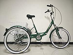 SCOUT® TRIKES - Triciclo para adultos, marco plegable con suspensión, ruedas de 24