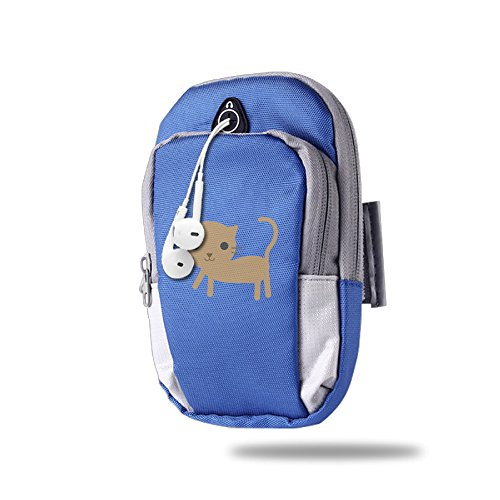 Simple Cat Outdoor Sport Armbags Bag Pouch Wrist Wear RoyalBlue For Unisex,One Size