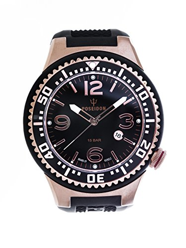 Kienzle Poseidon Men's XL Slim Watch - Black & Rose Gold