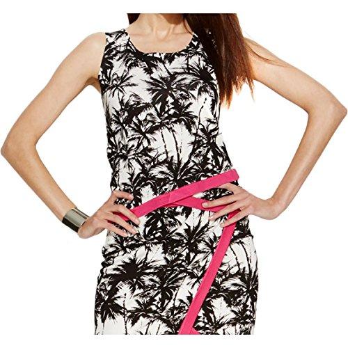 Inc Womens Knit Tropical Print Tank Top B/W (Tropical Print Knit Top)