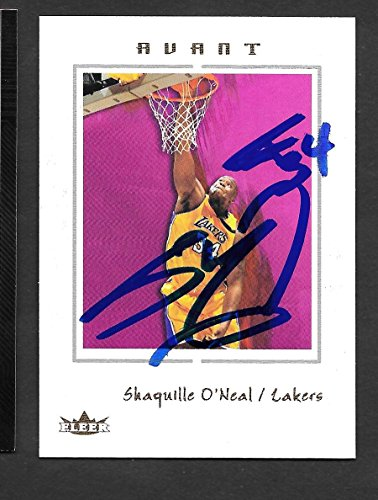 Autographed Oneal Shaquille Photograph - Shaquille O'Neal Los Angeles lakers Autographed Signed 2004 Fleer Card - COA - (Near Mint Condition)