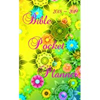 """Bible Pocket Planner 2018 - 2019: Writing  Monthly Journal. Compact Notebook. Two-Year Monthly Pocket Planner: 24-Month Calendar, Size : 4.0"""" x 6.5"""", Bible Lettering book"""