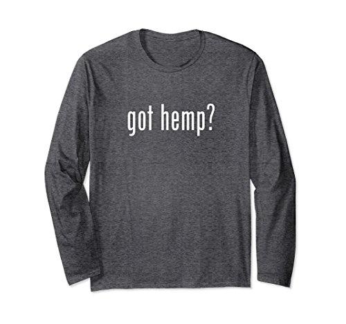(Unisex Got Hemp Long Sleeve T-Shirt Large Dark Heather)
