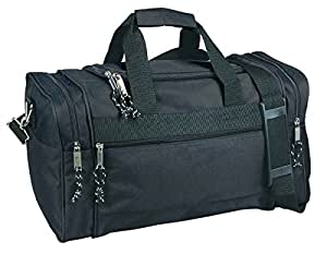 DALIX DF-019 Duffel Bag Sports Gym Carry Bag with Strap and Side Pockets, 20 Inches, Black