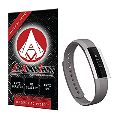 Ace Armor Shield (6 PACK) Screen Protector for the fitbit Alta with free lifetime Replacement warranty
