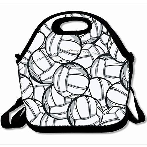 3.0 Zippered Tote - Ahawoso Reusable Insulated Lunch Tote Bag Gray Body Volleyball White 10X11 Zippered Neoprene School Picnic Gourmet Lunchbox