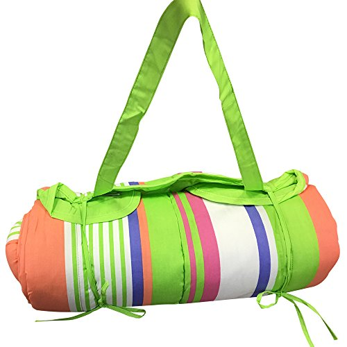 Review Of Beach Mat WITH Pillow - Rolls up Beach Mat with Carry Strap & Pillow 32x72 inch (Stripe Mu...