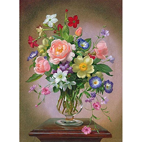 WindGoal 5D DIY Diamond Painting Resin Pictures Of Crystals Embroidery Patchwork & Cross Stitch For Decoration Gift-Vase And Flowers