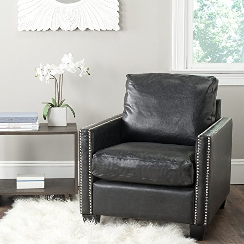 Safavieh Mercer Collection Horace Club Chair, Antique Black ()