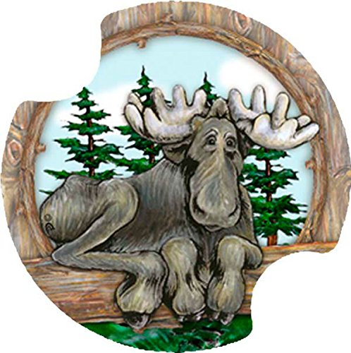 - Thirstystone Big Sky Moose Car Cup Holder Coaster, 2-Pack