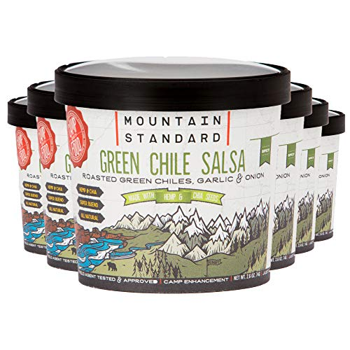 Mountain Standard Foods Green Chili Salsa with Roasted Green Chiles, Garlic, Onion, Hemp & Chia Seeds, 1 Servings Per Cup (6 Count), Freeze Dried Food ()