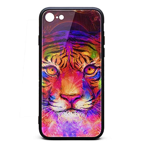 (iPhone 6 Plus/6S Plus TPU Soft Rubber Case with Hard PC Back Shell Spiral Psychedelic Colorful (24) Shock Absorption Bumper Cover SLIN)