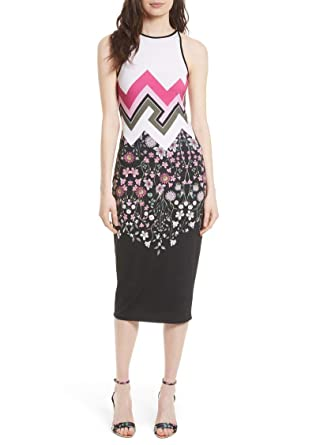 a37fea0dc5ca Image Unavailable. Image not available for. Color  Ted Baker London Seenaa  Floral Print Black Jersey Midi Tank Dress ...