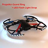 Goolsky Propeller Guard Ring with LED Flash Light Strap Cable Kit for DJI Mavic Air Drone RC Quadcopter