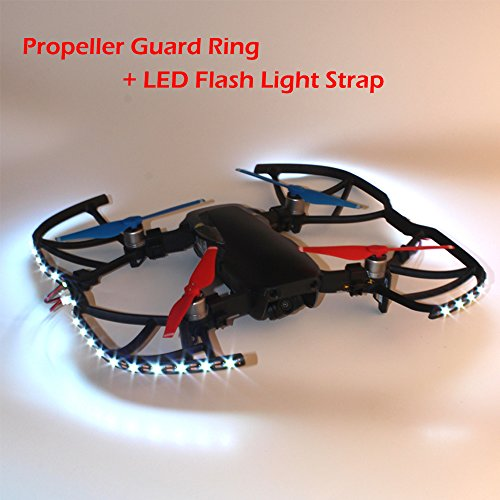 Goolsky Propeller Guard Ring with LED Flash Light Strap Cable Kit for DJI Mavic Air Drone RC Quadcopter by Goolsky
