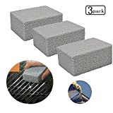 Bozoa 3 Pack 100% Ecological Odorless Grilling Stone Cleaner/Grill Cleaning Brick,Removes Encrusted Greases Grill Block Reusable De-Scaling Stones