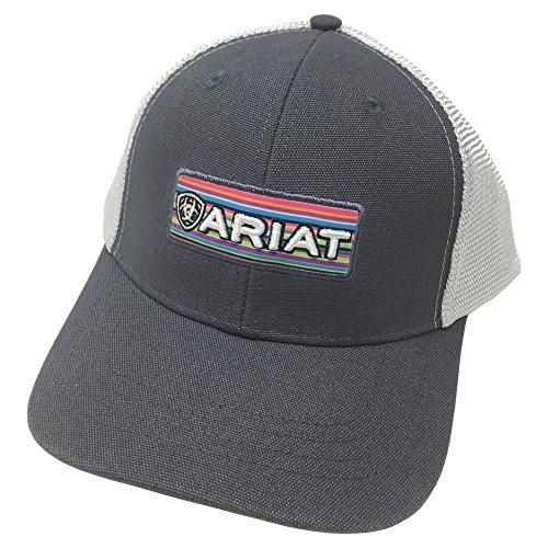 ARIAT Women's 3D Embroidered Logo Cap, Grey, OS