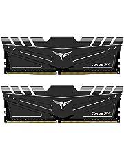 TEAMGROUP T-Force Dark Zα (Alpha) (for AMD Ryzen) 32GB Kit (2 x 16GB) 3600MHz (PC4-28800) CL 18 288-Pin DDR4 SDRAM Desktop Gaming Memory Module Ram - Black - TDZAD432G3600HC18JDC01
