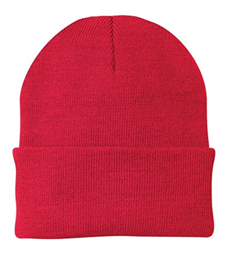 (Port & Company Knit Cap (CP90) Hat Athletic Red)