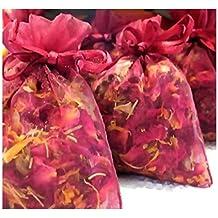 ROSE Buds & Petals - Used In Wedding Toss, Potpourri, Sachet, Pillow, Bath Salts - By Oakland Gardens (08 oz - (approx 8 Cups))